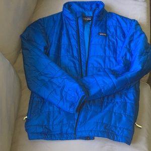 Patagonia Bayou Blue Boys 14 Nano Puff-like new!